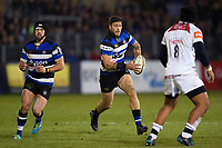 Matt Banahan of Bath Rugby goes on the attack. Anglo-Welsh Cup match, between Bath Rugby and Leicester Tigers on November 10, 2017 at the Recreation Ground in Bath, England. Photo by: Patrick Khachfe / Onside Images