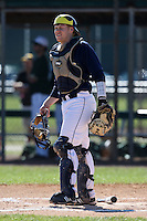 February 28, 2010:  Catcher Chris Berset of the Michigan Wolverines during the Big East/Big 10 Challenge at Raymond Naimoli Complex in St. Petersburg, FL.  Photo By Mike Janes/Four Seam Images