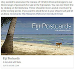 Very excited to announce the release of 10 NEW Postcard designs to our BULA range of postcards for sale in the Fiji Islands. You can see them by clicking on this link <br />