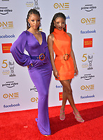 LOS ANGELES, CA. March 30, 2019: Chloe x Halle, Chloe Bailey & Halle Bailey at the 50th NAACP Image Awards.<br /> Picture: Paul Smith/Featureflash