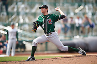 Great Lakes Loons starting pitcher Michael Boyle (11) delivers a pitch during the second game of a doubleheader against the Fort Wayne TinCaps on May 11, 2016 at Parkview Field in Fort Wayne, Indiana.  Great Lakes defeated Fort Wayne 5-0.  (Mike Janes/Four Seam Images)