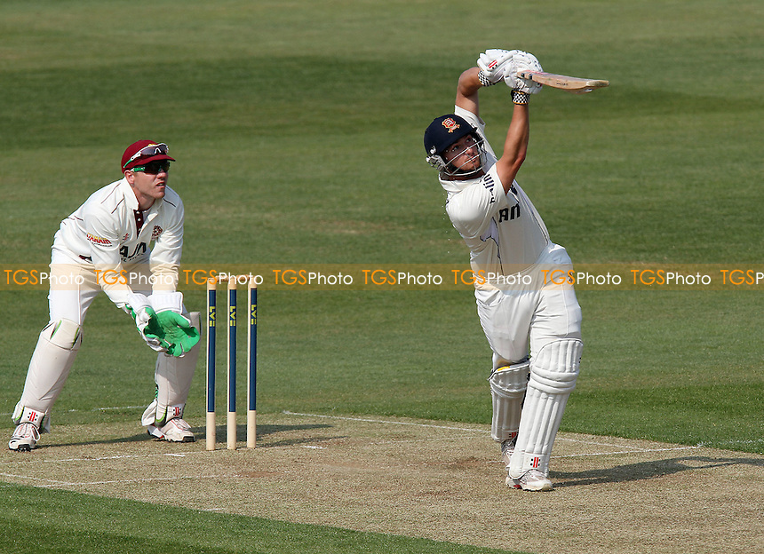 Jaik Mickleburgh hits six runs for Essex - Northamptonshire CCC vs Essex CCC - LV County Championship Division Two Cricket at the County Ground, Northampton - 20/04/11 - MANDATORY CREDIT: Gavin Ellis/TGSPHOTO - Self billing applies where appropriate - Tel: 0845 094 6026