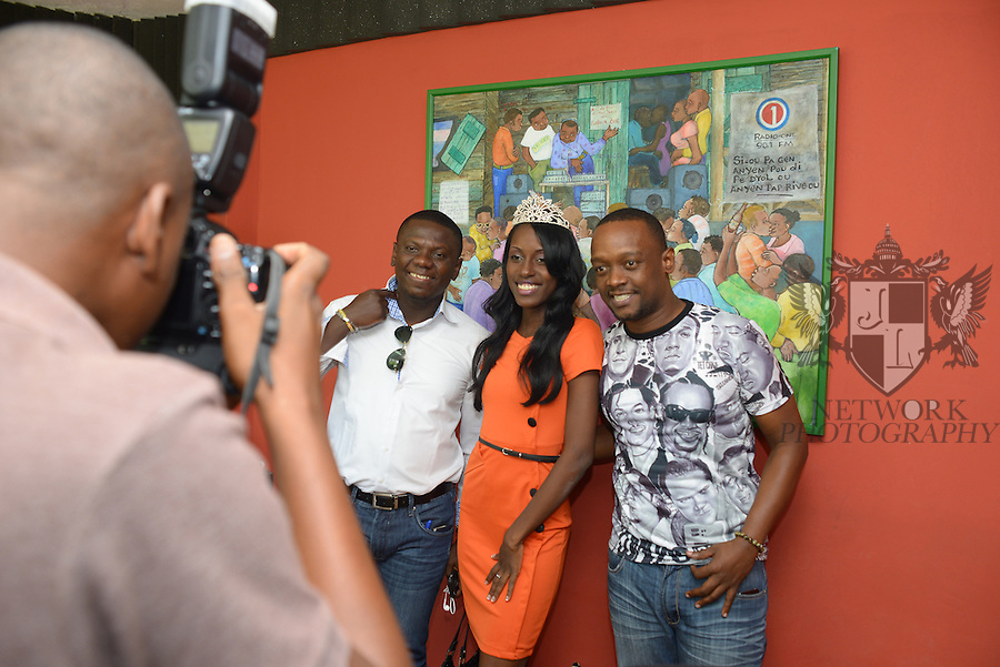 PORT-AU-PRINCE, HAITI - SEPTEMBER 24: Miss Earth Haiti 2014 (Miss AnayizZ) Fabiaula Dumas poses for portrait during her visit at Radio One station at Port-au-Prince Haiti on Wednesday September 24, 2014 in port-Au-Prince, Haiti (Photo by Johnny Louis/jlnphotography.com)