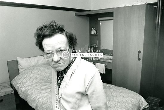Elderly residential home, Nottingham UK 1987