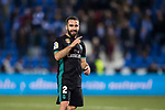 Daniel Carvajal Ramos of Real Madrid reacts during the Copa del Rey 2017-18 match between CD Leganes and Real Madrid at Estadio Municipal Butarque on 18 January 2018 in Leganes, Spain. Photo by Diego Gonzalez / Power Sport Images