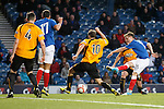 GOAL 5<br /> Robbie Crawford strokes in goal no 5 for Rangers