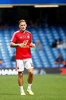 Billy Sharp of Sheffield United during the Premier League match between Chelsea and Sheff United at Stamford Bridge, London, England on 31 August 2019. Photo by Carlton Myrie / PRiME Media Images.