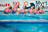 Team Democratic People's Republic of Korea PRK<br /> Women's Free Combination Preliminary Free Combination - Kazan Arena<br /> Day03 25/07/2015<br /> XVI FINA World Championships Aquatics Swimming<br /> Kazan Tatarstan RUS July 24 - Aug. 9 2015 <br /> Photo A.Masini/Deepbluemedia/Insidefoto