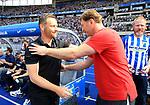 12.05.2018, OLympiastadion, Berlin, GER, 1.FBL, Hertha BSC VS. RB Leipzig, im Bild <br /> Cheftrainer (Head Coach) Pal Dardai (Hertha BSC Berlin), Trainer, Ralph Hasenhuettl (RB Leipzig)<br /> <br /> <br />       <br /> Foto &copy; nordphoto / Engler