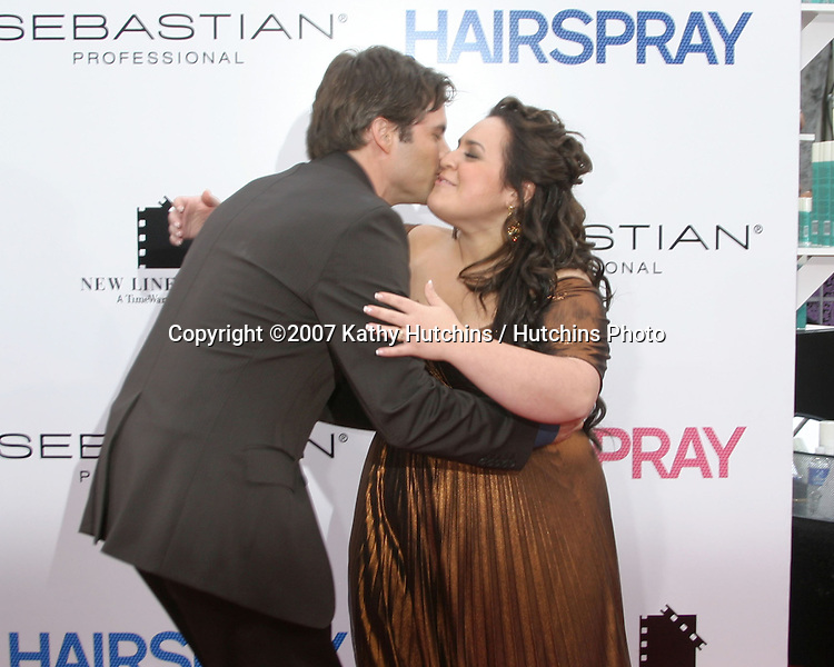 "James Marsden & Nikki Blonsky.""Hairspray"" Movie Premiere.Mann's Village Theater.Westwood, CA.July 10, 2007.©2007 Kathy Hutchins / Hutchins Photo..."