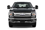 Car photography straight front view of a 2017 Ford F-250 XLT-Crew 4 Door Pick-up Front View