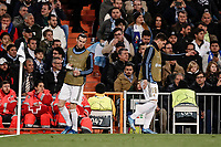 26th February 2020; Estadio Santiago Bernabeu, Madrid, Spain; UEFA Champions League Football, Real Madrid versus Manchester City; Gareth Bale (Real Madrid) warms-up