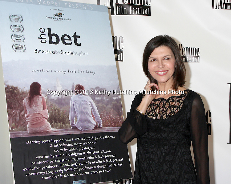 """LOS ANGELES - OCT 19:  Finola Hughes at the """"The Bet"""" Screening at Le Femme Film Festival at Regal 14 Theaters on October 19, 2013 in Los Angeles, CA"""