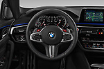Car pictures of steering wheel view of a 2019 BMW M5 Competition Base 4 Door Sedan