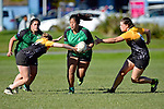 NELSON, NEW ZEALAND - MAY 6: Women Rugby Marist v Motueka High, May 6, 2017, Tahunanui, Nelson, New Zealand. (Photo by: Barry Whitnall Shuttersport Limited)
