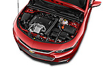 Car Stock 2016 Chevrolet Malibu 2LZ 4 Door Sedan Engine  high angle detail view