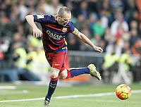 FC Barcelona's Andres Iniesta during La Liga match. November 21,2015. (ALTERPHOTOS/Acero) /NortePhoto