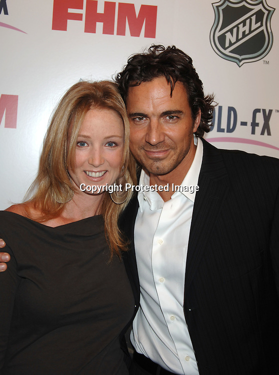 Susan Haskell and Thorsten Kaye..arriving at The National Hockey League and FHM Magazine Party to celebrate the 2006-2007 hockey season at Marquee on September 27, 2006. ..Robin Platzer, Twin Images
