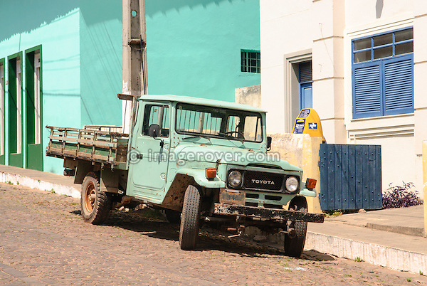 Brasilian built Toyota Bandeirante pickup (J45). Lencois, Bahia, Brazil. --- No releases available. Automotive trademarks are the property of the trademark holder, authorization may be needed for some uses.