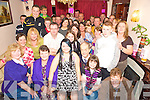 Eileen O'Connell, Woodford Manor, Killarney, pictured with family and friends as she celebrated her 18th at home in  Killarney on Saturday night.