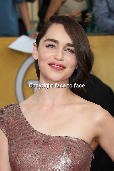 LOS ANGELES, CA - JANUARY 18: Emilia Clarke attending the 2014 SAG Awards in Los Angeles, California on January 18, 2014.<br /> Credit: RTNUPA/MediaPunch<br /> Credit: MediaPunch/face to face<br /> - Germany, Austria, Switzerland, Eastern Europe, Australia, UK, USA, Taiwan, Singapore, China, Malaysia, Thailand, Sweden, Estonia, Latvia and Lithuania rights only -