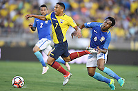 actionn photo during the match Brazil vs Ecuador, Corresponding Group -B- America Cup Centenary 2016, at Rose Bowl Stadium<br /> <br /> Foto de accion durante el partido Brasil vs Ecuador, Correspondiante al Grupo -B-  de la Copa America Centenario USA 2016 en el Estadio Rose Bowl, en la foto: (i-d) Jefferson Montero de Ecuador y Elias de Brasil<br /> <br /> <br /> 04/06/2016/MEXSPORT/Omar Martinez.