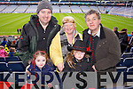 James, Ailbhe, Mary, Reiltin and Brendan O'Sullivan (Kenmare) pictured at Croke Park on Sunday for the Kenmare vs Ballinasloe final.