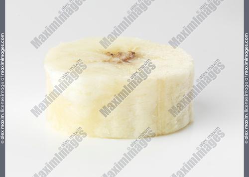 Banana fruit slice isolated on white background