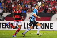 ATENCAO EDITOR: FOTO EMBARGADA PARA VEÍCULOS INTERNACIONAIS. - RIO DE JANEIRO, RJ, 16 DE SETEMBRO DE 2012 - CAMPEONATO BRASILEIRO - FLAMENGO X GREMIO - Marcelo Moreno, jogador do Gremio, durante partida contra o Flamengo, pela 25a rodada do Campeonato Brasileiro, no Stadium Rio (Engenhao), na cidade do Rio de Janeiro, neste domingo, 16. FOTO BRUNO TURANO BRAZIL PHOTO PRESS