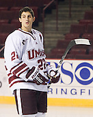 Michael Marcou (UMass - 22) - Sweden's Under-20 team played its last game on this Massachusetts tour versus the University of Massachusetts-Amherst Minutemen losing 5-1 on Saturday, November 6, 2010, at the Mullins Center in Amherst, Massachusetts.