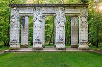 France, Indre-et-Loire (37), Chenonceaux, château et jardins de Chenonceau, les caryatides