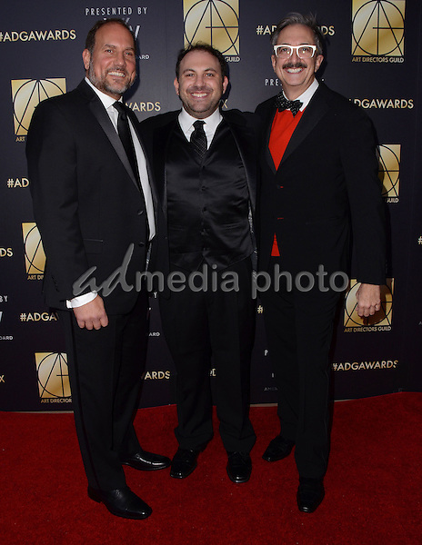 31 January  - Beverly Hills, Ca - Bryan Langer, Greg Grande, Peter Gurski. Arrivals for the Art Director's Guild 20th Annual Production Design Awards held at Beverly Hilton Hotel. Studios. Photo Credit: Birdie Thompson/AdMedia