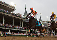 May 4, 2012. Believe You Can and Rosie Napravnik win the Kentucky Oaks at Churchill Downs in Louisville, KY