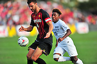 Maryland defeated Penn State in over time 3-2 during an NCAA D-1 soccer match at Ludwig Field in College Park, MD on Sunday, September 18, 2016.  Alan P. Santos/DC Sports Box