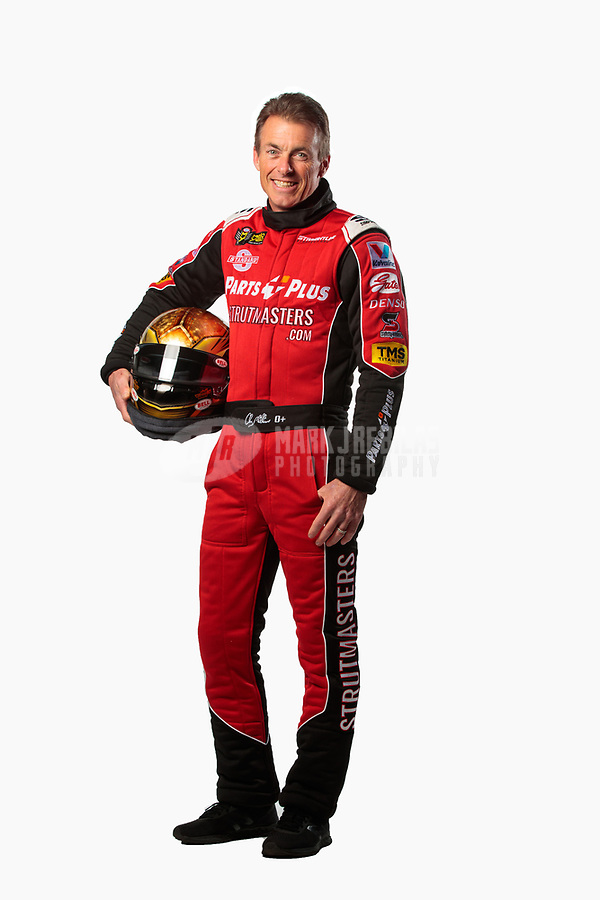 Feb 6, 2019; Pomona, CA, USA; NHRA top fuel driver Clay Millican poses for a portrait during NHRA Media Day at the NHRA Museum. Mandatory Credit: Mark J. Rebilas-USA TODAY Sports