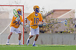 Los Angeles, CA 02-26-17 - Peter Brydon (UCSB #30) and Dietrich Von Kaenel (UCSB #10) in action during the MCLA conference game between LMU and UC Santa Barbara.  Santa Barbara defeated LMU 15-0.