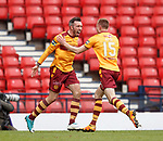 Ryan Bowman celebrates his goal with Andy Rose