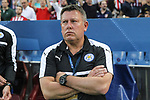 Craig Sakespeare coach of Leicester City Football Club during the match of  Champions LEague between  Atletico de Madrid and LEicester City Football Club at Vicente Calderon  Stadium  in Madrid, Spain. April 12, 2017. (ALTERPHOTOS / Rodrigo Jimenez)