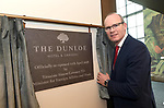 "27-4-2018: Pictured at the opening of the five-star Dunloe Hotel & Gardens, located close to one of Ireland's most iconic tourist destinations, the Gap of Dunloe, Killarney following an €18 million  renovation on Friday was Tanaiste Simon Coveney after unveiling the commemorative plaque.<br /> Photo: Don MacMonagle<br /> <br /> pr photo photo<br /> Press release:<br /> The five-star Dunloe Hotel & Gardens, located close to one of Ireland's most iconic tourist destinations, the Gap of Dunloe, officially opened its doors today, (Friday 27th April) after undergoing a stunning 18-month renovation of the restaurant, bar, reception, lobby and lounge spaces as well as the enhancement of the gardens and carpark.<br /> A substantial €18million investment by the hotel's owners the Liebherr family, has brought new life to the hotel, enhancing its long-standing relationship with the beautiful surroundings and maximising the property's unrivalled views of the Gap of Dunloe. The Liebherr family has been at the forefront of tourism and manufacturing industries in Killarney and the surrounding areas for over 60 years, employing 1,000 people across the country. Tánaiste Simon Coveney TD, Minister for Foreign Affairs & Trade, joined Dr. Isolde Liebherr to celebrate and welcome the reopening of this magnificent 5-star hotel.<br /> Speaking at the official re-opening, Tánaiste Simon Coveney TD said, ""It is my great pleasure to open a new jewel for tourists in Ireland, in a place that is one of the jewels in the crown of our entire tourist industry. The Liebherr family's commitment to Ireland, with more than 1000 employees, is so important and appreciated. The rebirth of this hotel is a further sign of the Liebherrs' dedication"".  Local building contractors Griffin Brothers led the year and a half long renovation with the assistance of O'Carroll Engineering who implemented the building's steel works. At the height of the build, the site had over 160 people working across all areas, including Tralee com"