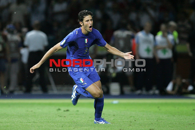 FIFA WM 2006 - Final / Finale<br /> Play #64 (09-Jul) - Italy vs France.<br /> Italy (Fabio Grosso) is World Champion / Weltmeister 2006 after penalty at the match of the World Cup in Berlin.<br /> Foto &copy; nordphoto