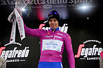 Arnaud Demare (FRA) Groupama-FDJ retains the points Maglia Ciclamino at the end of Stage 16 of the 2019 Giro d'Italia, running 194km from Lovere to Ponte di Legno, Italy. 28th May 2019<br /> Picture: Gian Mattia D'Alberto/LaPresse | Cyclefile<br /> <br /> All photos usage must carry mandatory copyright credit (© Cyclefile | Gian Mattia D'Alberto/LaPresse)