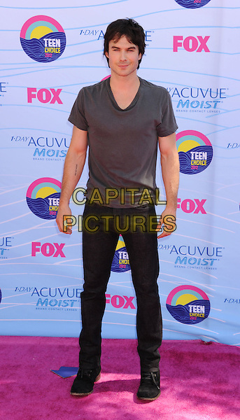 Ian Somerhalder.FOX's 2012 Teen Choice Awards held at The Gibson Ampitheatre in Universal City, California, USA..July 22nd, 2012.full length top black jeans denim grey gray t-shirt .CAP/ROT/TM.©Tony Michaels/Roth Stock/Capital Pictures