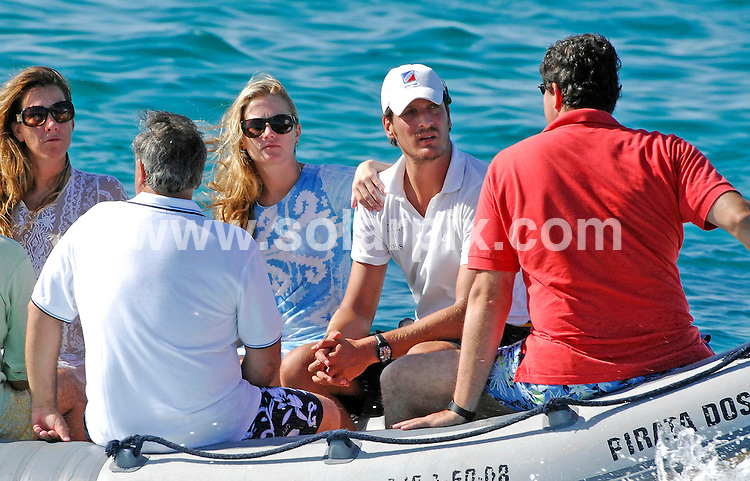 **ALL ROUND PICTURES FROM SOLARPIX.COM**.**WORLDWIDE SYNDICATION RIGHTS EXCLUDING SPAIN - NO PUBLICATION IN SPAIN**.Amanda Hearst, American heiress to media mogal William Randolph Hearst seen here on holiday in Ibiza with Spanish boyfriend Luis Medina, son of Spanish socialite and a former fashion model Nati Abascal. Amanda is the niece of famous kidnap victim turned rebel Patty Hearst and has been dating her Spanish lover since the beginning of this summer. Ibiza, Spain. 20 August 2010..This pic: Amanda Hearst & Luis Medina..JOB REF: 12005 RAM       DATE: 20_08_2010.**MUST CREDIT SOLARPIX.COM OR DOUBLE FEE WILL BE CHARGED**.**MUST NOTIFY SOLARPIX OF ONLINE USAGE**.**CALL US ON: +34 952 811 768 or LOW RATE FROM UK 0844 617 7637**
