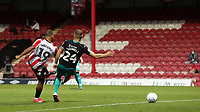 Bryan Mbeumo scores Brentford's third goal and the last Brentford goal to be scored at Griffin Park during Brentford vs Swansea City, Sky Bet EFL Championship Play-Off Semi-Final 2nd Leg Football at Griffin Park on 29th July 2020
