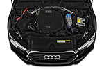 Car stock 2019 Audi A4-Avant Design 5 Door Wagon engine high angle detail view