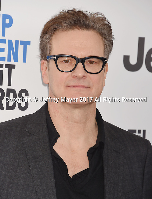 SANTA MONICA, CA - FEBRUARY 25: Actor Colin Firth attends the 2017 Film Independent Spirit Awards at the Santa Monica Pier on February 25, 2017 in Santa Monica, California.