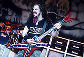 Pantera - guitarist Dimebag Darrell Abbott - performing live on the Main Stage of the 1997 Ozzfest held at the Sony Blockbuster Entertainment Center in Camden NJ USA - Jun 08,1997.  Photo credit: Eddie Malluk/IconicPix