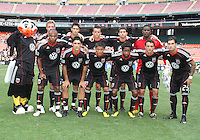 Starting eleven of D.C. United during an MLS match against the Philadelphia Union at RFK Stadium on August 22 2010, in Washington DC. United won 2-0.