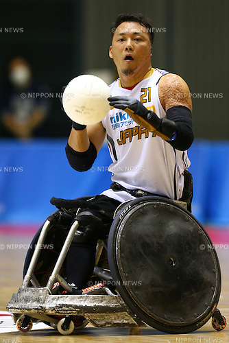 Nobuyuki Ike (JPN), October 29, 2015 - Wheelchair Rugby : IWRF 2015 Asia-Oceania Championship Preliminary League match between Japan - New Zealand at Chiba Port Arena in Chiba, Japan. (Photo by Shingo Ito/AFLO SPORT)