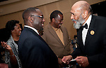 Chaplain Michael McCoy shares laugh with Buffalo Soldier 2011 guest